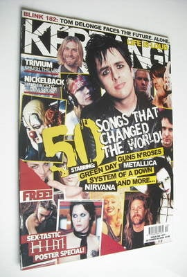<!--2005-10-08-->Kerrang magazine - 50 Songs That Changed The World cover (