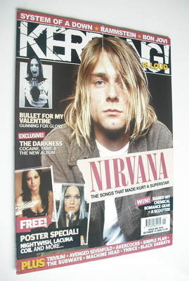 <!--2005-10-15-->Kerrang magazine - Kurt Cobain cover (15 October 2005 - Is