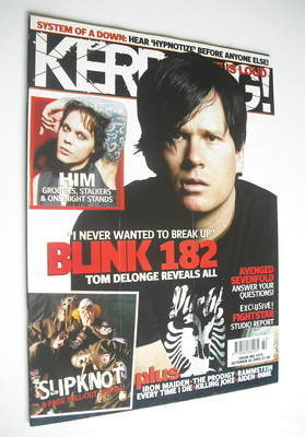 <!--2005-10-22-->Kerrang magazine - Tom Delonge cover (22 October 2005 - Is