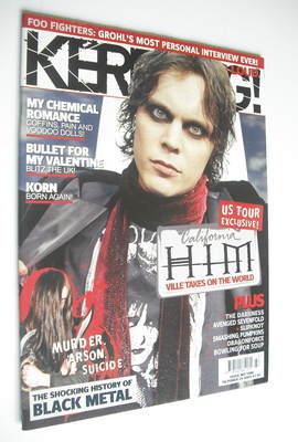 <!--2005-10-29-->Kerrang magazine - HIM Ville Valo cover (29 October 2005 -