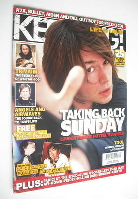 <!--2006-05-20-->Kerrang magazine - Taking Back Sunday cover (20 May 2006 -