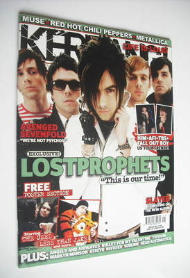 <!--2006-05-27-->Kerrang magazine - Lostprophets cover (27 May 2006 - Issue