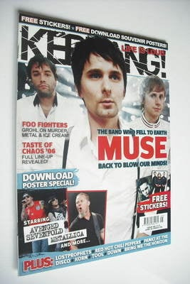 <!--2006-06-24-->Kerrang magazine - Muse cover (24 June 2006 - Issue 1113)
