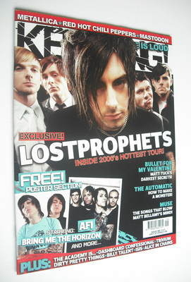 <!--2006-07-22-->Kerrang magazine - LostProphets cover (22 July 2006 - Issu