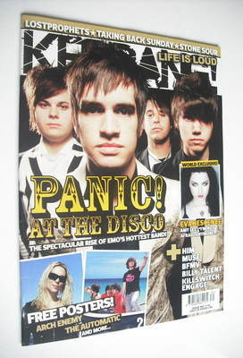 <!--2006-07-29-->Kerrang magazine - Panic! At The Disco cover (29 July 2006
