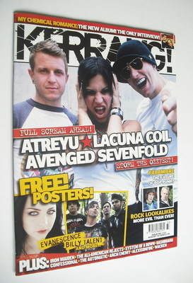 <!--2006-08-19-->Kerrang magazine - Ozzfest cover (19 August 2006 - Issue 1