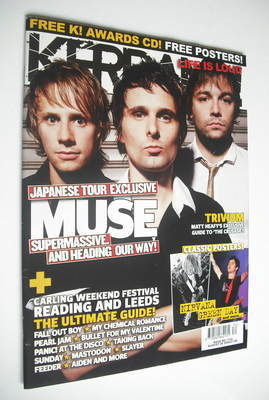<!--2006-08-26-->Kerrang magazine - Muse cover (26 August 2006 - Issue 1122