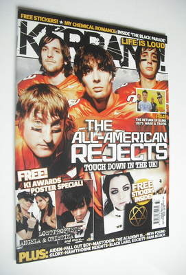 <!--2006-09-16-->Kerrang magazine - The All-American Rejects cover (16 Sept