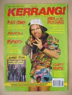 <!--1990-04-14-->Kerrang magazine - Bruce Dickinson cover (14 April 1990 -
