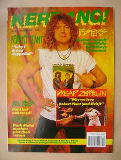 <!--1990-03-24-->Kerrang magazine - Robert Plant cover (24 March 1990 - Iss