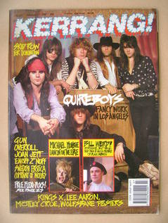 <!--1990-02-17-->Kerrang magazine - Quireboys cover (17 February 1990 - Iss