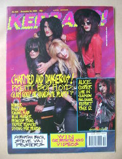 <!--1989-12-16-->Kerrang magazine - Pretty Boy Floyd cover (16 December 198