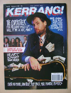 <!--1990-02-03-->Kerrang magazine - Fish cover (3 February 1990 - Issue 275