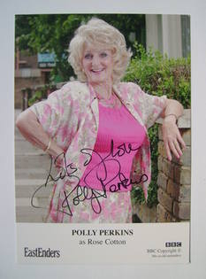 Polly Perkins autograph (EastEnders actor)