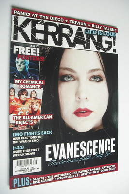 <!--2006-09-30-->Kerrang magazine - Evanescence cover (30 September 2006 -