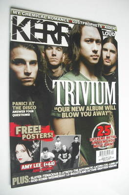 <!--2006-10-07-->Kerrang magazine - Trivium cover (7 October 2006 - Issue 1