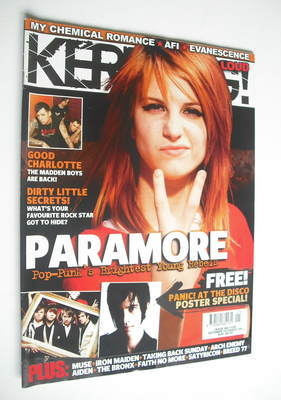 <!--2006-10-14-->Kerrang magazine - Hayley Williams cover (14 October 2006