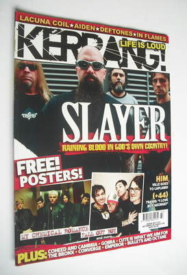 <!--2006-10-28-->Kerrang magazine - Slayer cover (28 October 2006 - Issue 1
