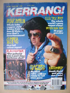 <!--1990-07-21-->Kerrang magazine - Tortelvis cover (21 July 1990 - Issue 2