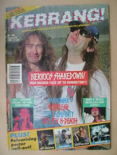 <!--1992-08-22-->Kerrang magazine - Steve Harris and Bruce Dickinson cover