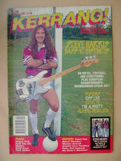 <!--1992-06-13-->Kerrang magazine - Steve Harris cover (13 June 1992 - Issu