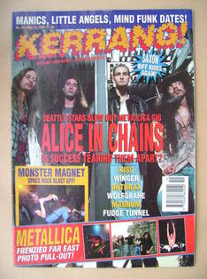 <!--1993-05-15-->Kerrang magazine - Alice In Chains cover (15 May 1993 - Is