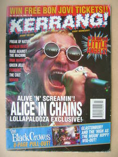 <!--1993-07-10-->Kerrang magazine - 10 July 1993 (Issue 451)