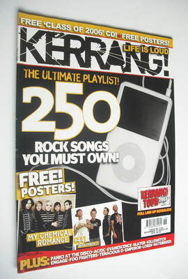 <!--2006-11-18-->Kerrang magazine - 250 Rock Songs You Must Own cover (18 N
