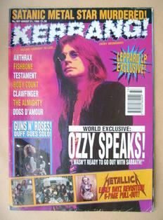<!--1993-08-21-->Kerrang magazine - Ozzy Osbourne cover (21 August 1993 - I