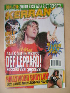 <!--1993-10-16-->Kerrang magazine - 16 October 1993 (Issue 465)