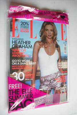 <!--2003-06-->British Elle magazine - June 2003 - Heather Graham cover