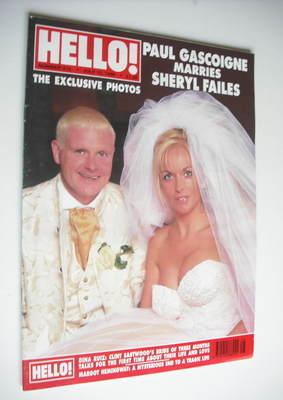 <!--1996-07-13-->Hello! magazine - Paul Gascoigne and Sheryl Failes cover (