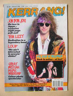 <!--1991-02-02-->Kerrang magazine - Jon Bon Jovi cover (2 February 1991 - I
