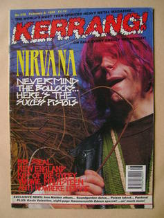 <!--1992-02-08-->Kerrang magazine - Kurt Cobain cover (8 February 1992 - Is