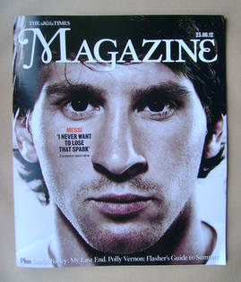 <!--2012-06-23-->The Times magazine - Lionel Messi cover (23 June 2012)