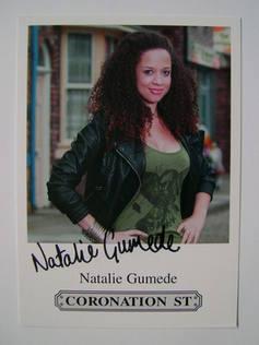 Natalie Gumede autograph