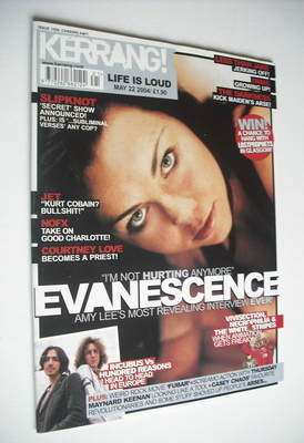 <!--2004-05-22-->Kerrang magazine - Amy Lee cover (22 May 2004 - Issue 1006