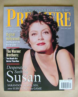 Premiere magazine - Susan Sarandon cover (January 1996)