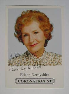Eileen Derbyshire autograph (hand-signed Emily Bishop cast card)