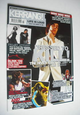 <!--2004-07-03-->Kerrang magazine - The Hives cover (3 July 2004 - Issue 10