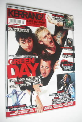 <!--2004-07-10-->Kerrang magazine - Green Day cover (10 July 2004 - Issue 1
