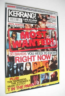 <!--2004-07-24-->Kerrang magazine - 30 Bands You Need To Know Right Now (24