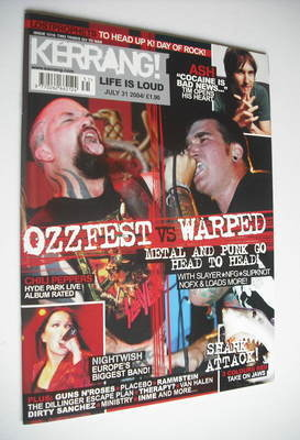 <!--2004-07-31-->Kerrang magazine - Ozzfest vs Warped cover (31 July 2004 -