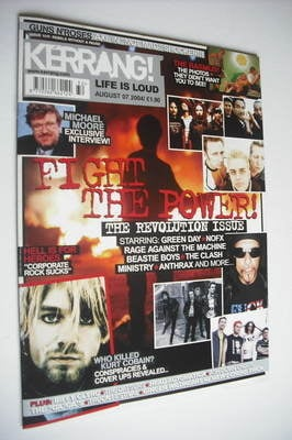 <!--2004-08-07-->Kerrang magazine - The Revolution Issue cover (7 August 20