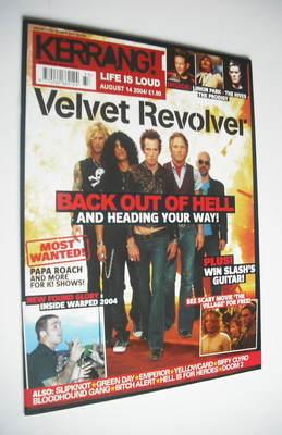 <!--2004-08-14-->Kerrang magazine - Velvet Revolver cover (14 August 2004 -