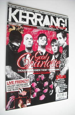 <!--2004-09-18-->Kerrang magazine - Good Charlotte cover (18 September 2004