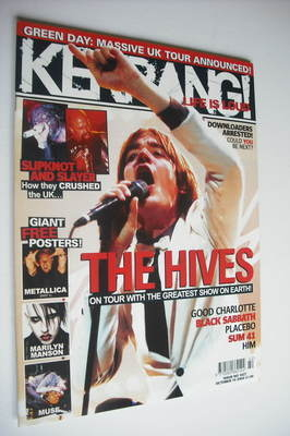 <!--2004-10-16-->Kerrang magazine - The Hives cover (16 October 2004 - Issu