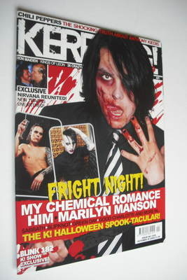 <!--2004-10-30-->Kerrang magazine - Gerard Way cover (30 October 2004 - Iss
