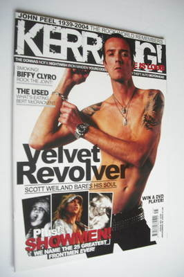 <!--2004-11-06-->Kerrang magazine - Scott Weiland cover (6 November 2004 -