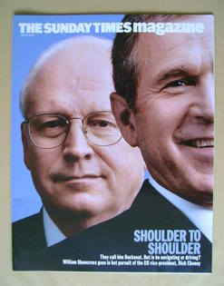 <!--2003-07-06-->The Sunday Times magazine - Dick Cheney and George W. Bush